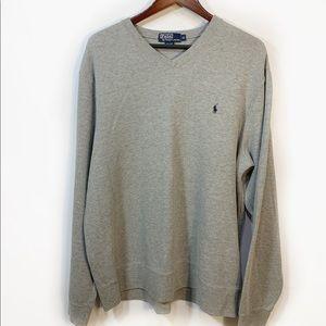 Polo by Ralph Lauren Men's Grey Cotton Sweatshirt